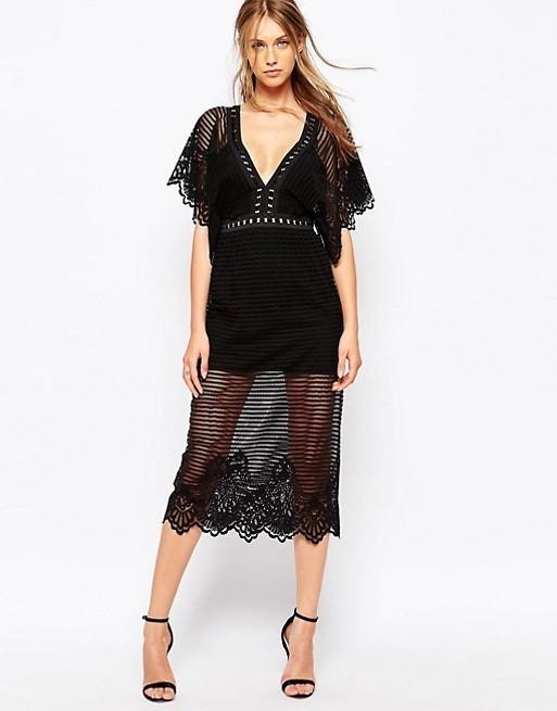 Alice Mccall Black Sheer Shut It Down Maxi Dress The Volte