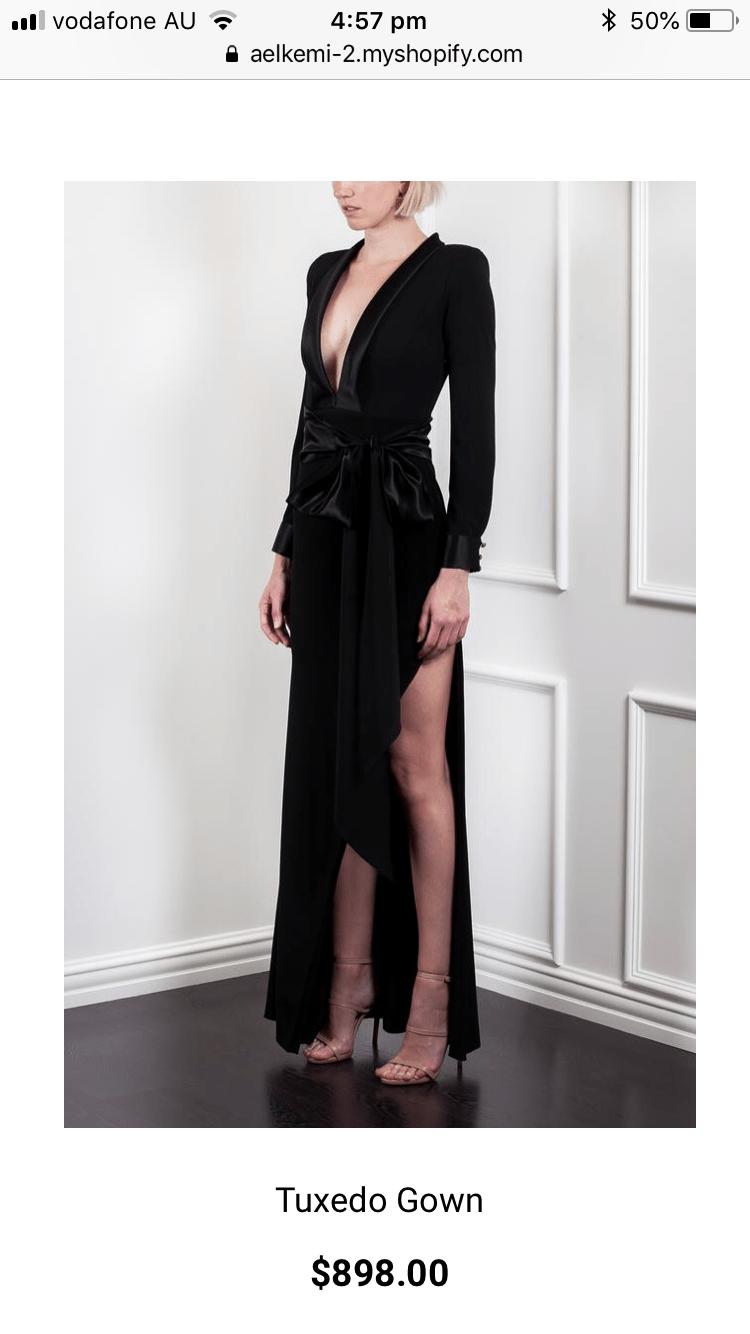 Ae\'lkemi Tuxedo Gown   The Volte