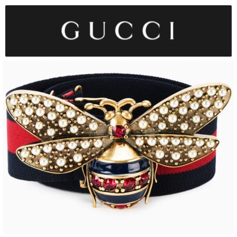 e699162b66f Gucci Crystal   Pearl Bee Web Belt · Gucci Crystal   Pearl Bee Web ...