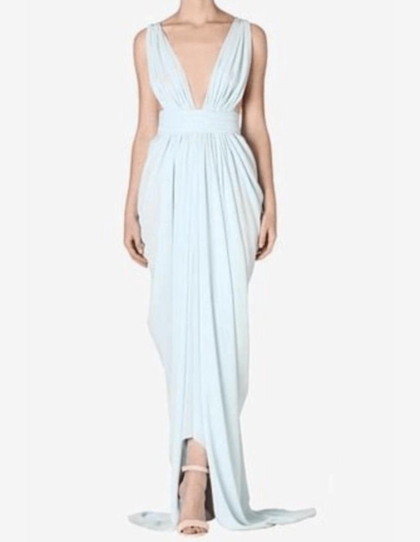 Carla Zampatti Ice Blue Jasmin Halter Gown Size 10 The Volte