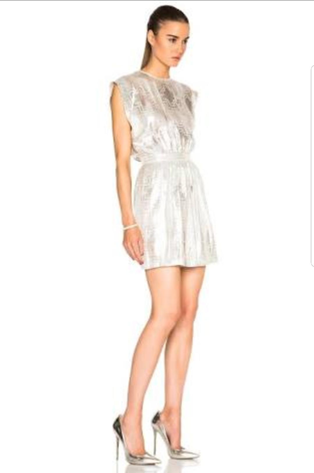 Sass Bide Sega Sega Dress In Metallic Silver Size 8 The Volte