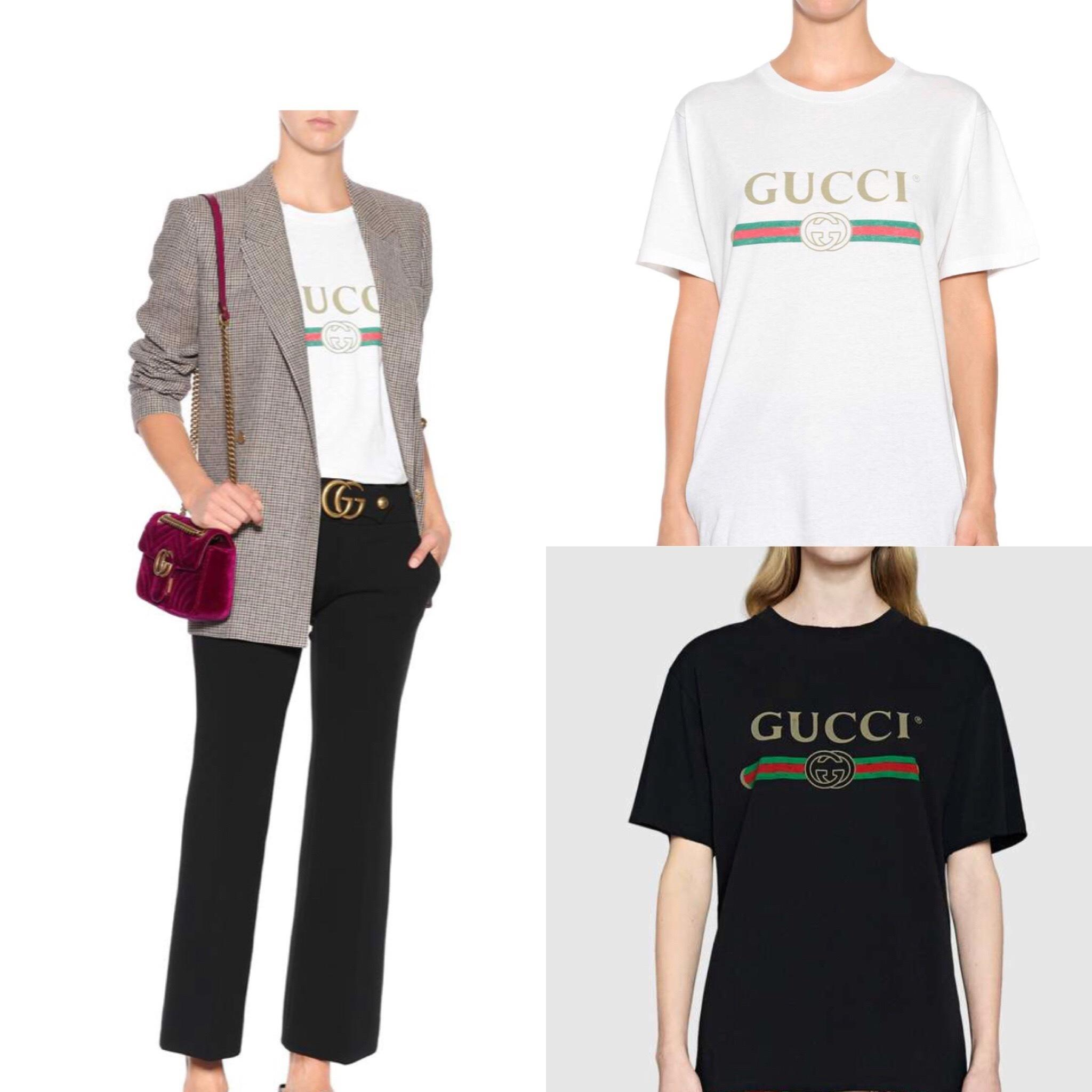 c066e9f50f1 Gucci Oversize T-shirt with Gucci logo in Black size S  8