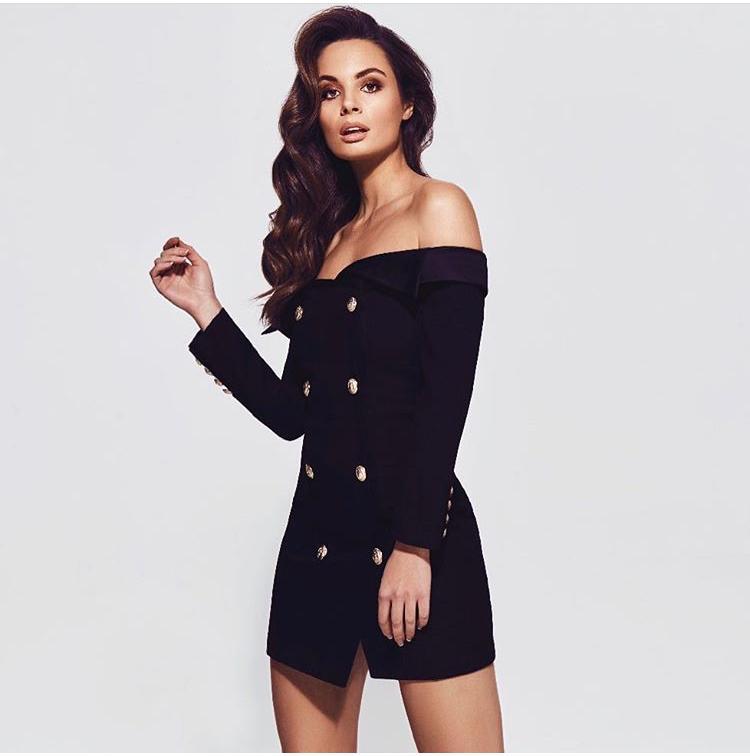 9ea9ea3df67d6 Bianca and Bridgett Chanel Black Dress -Size 8 | The Volte