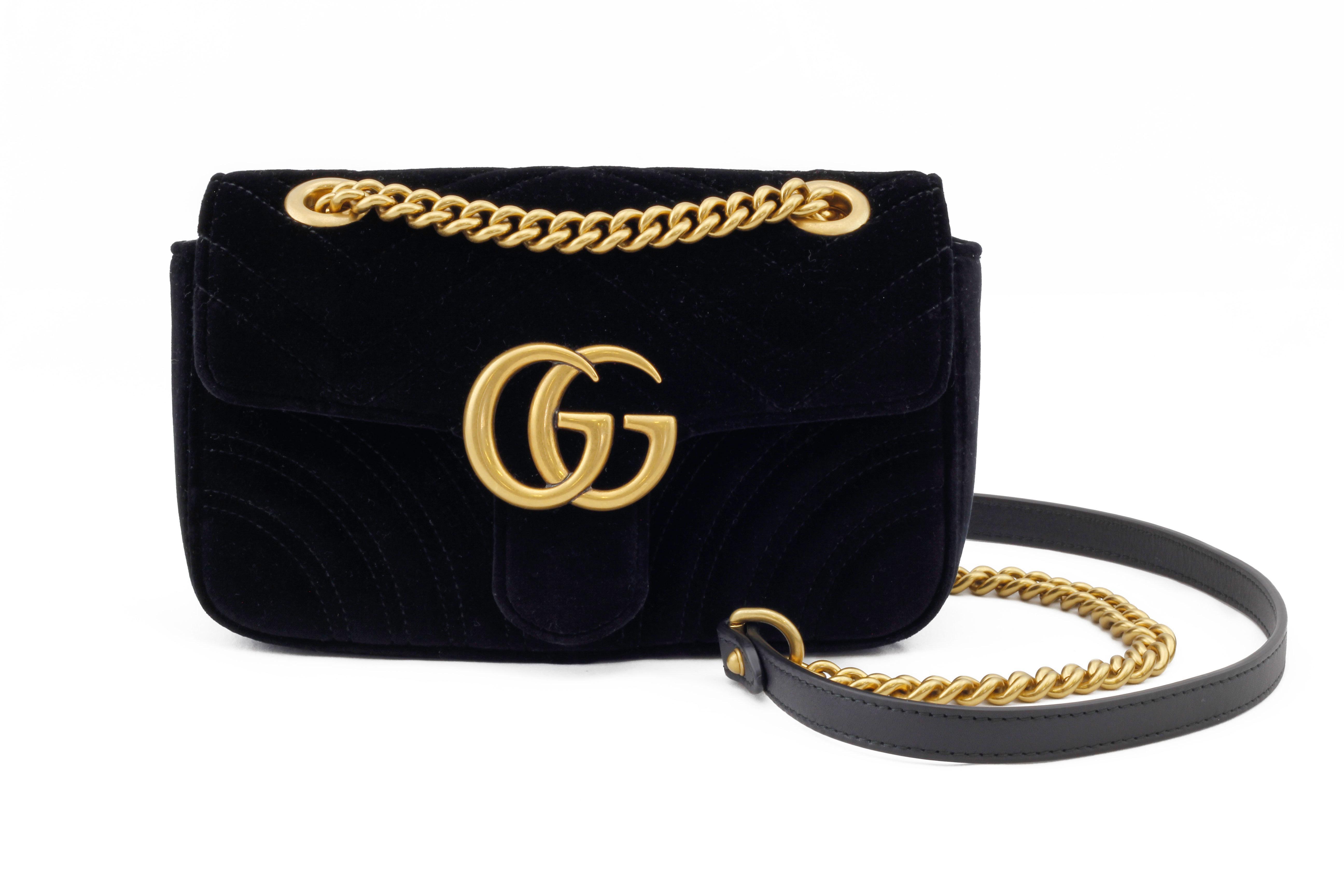 0f7d45061faa Gucci GG Marmont Black Velvet | The Volte