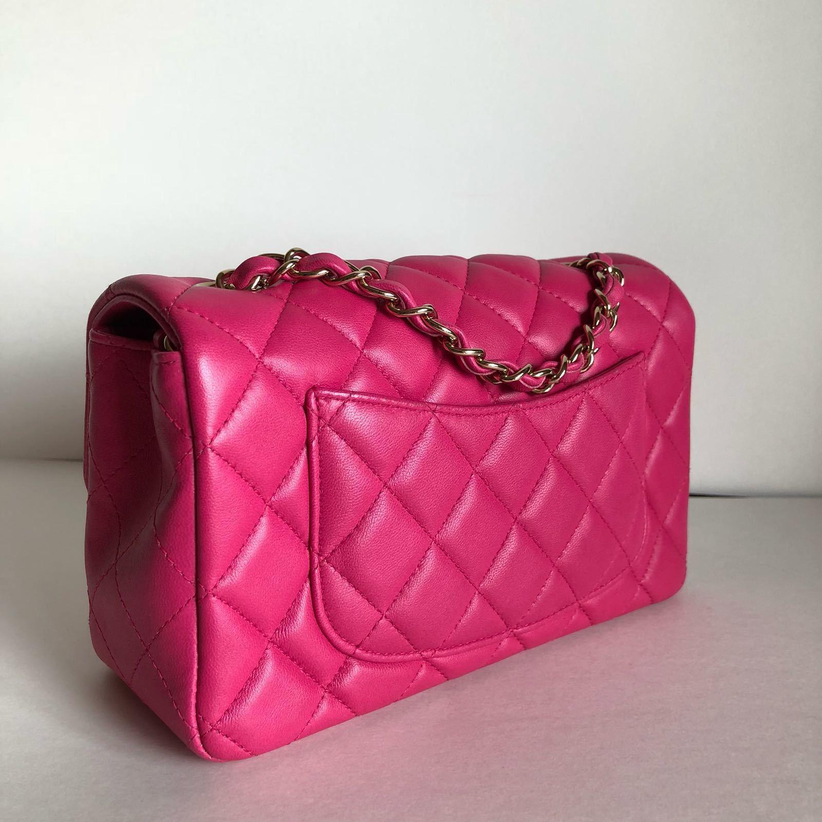 ac9f443fb0cb5 ... Chanel Rectangular Mini Pink Bag ...