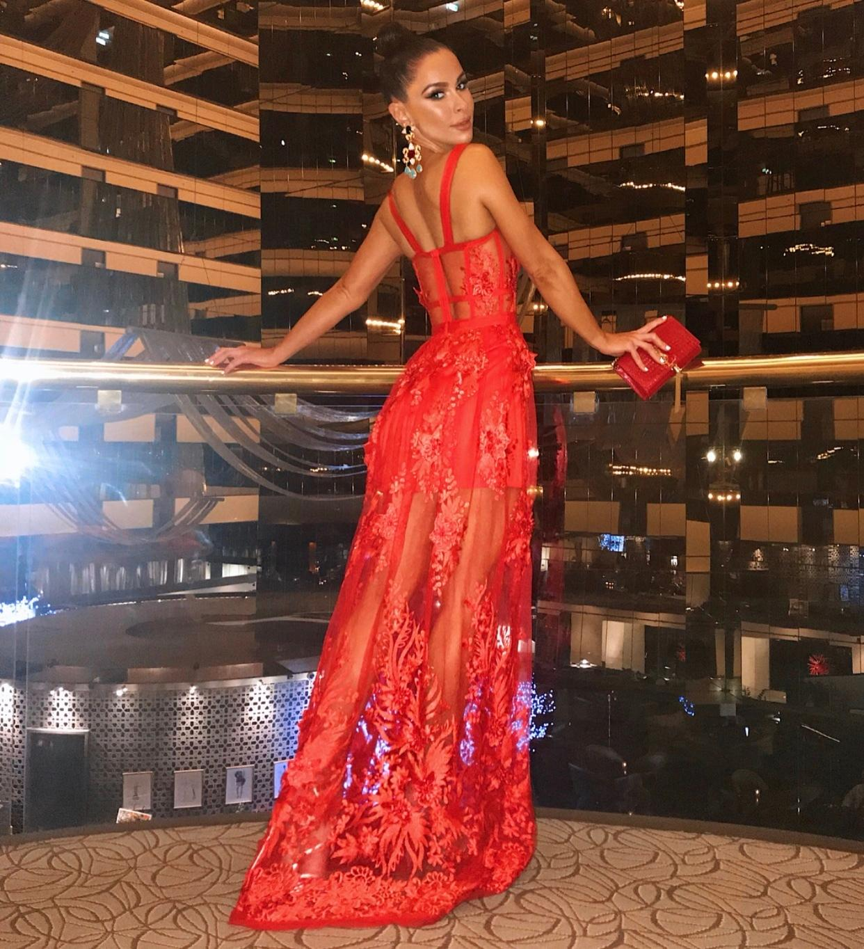 d29a34d856 Nicola Finetti Marisol red gown size 10