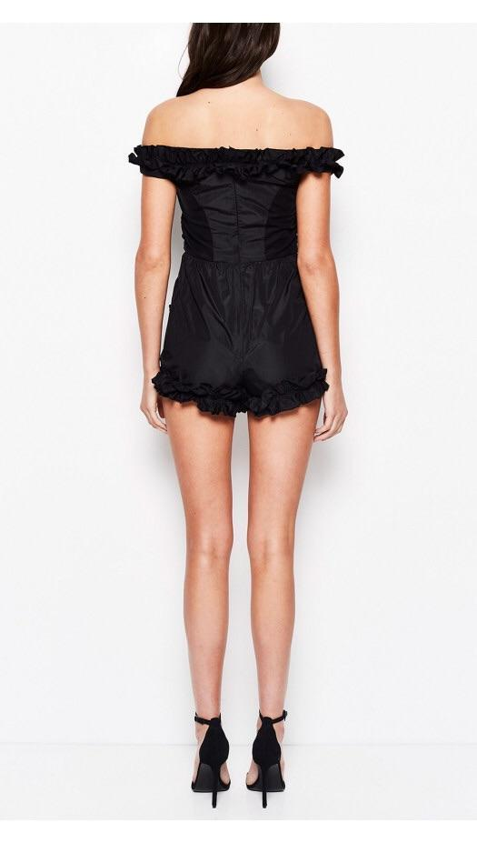 0091691b1b6 ... Alice mccall - Stuck on you black Playsuit size 10