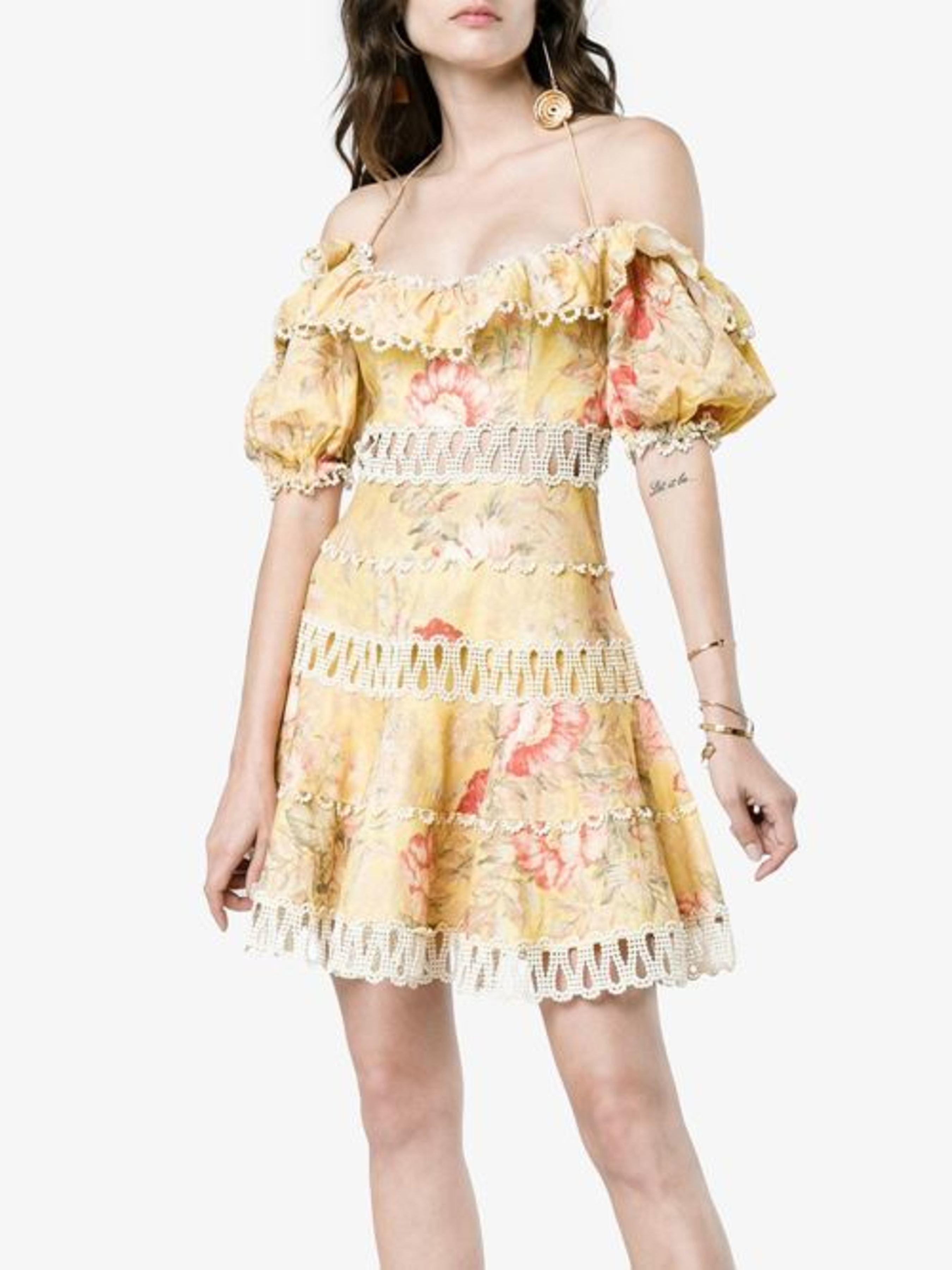 Zimmermann Melody off shoulder dress ... b56961661