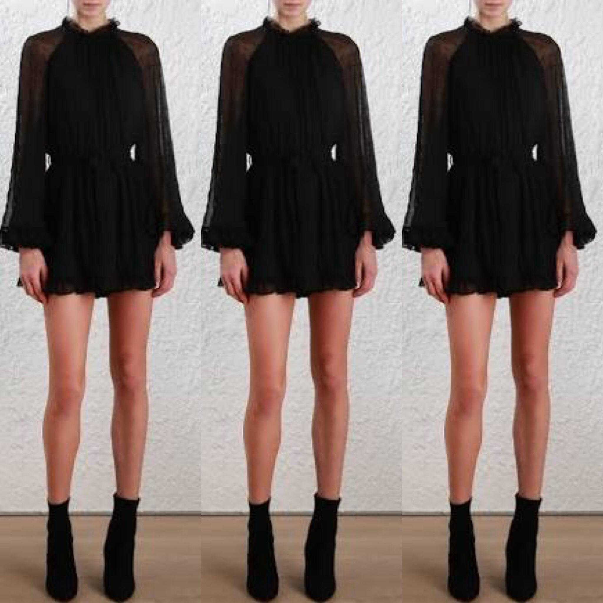 8039d29eb98 ... Zimmermann Stranded Playsuit in Black Size 0 XS ...