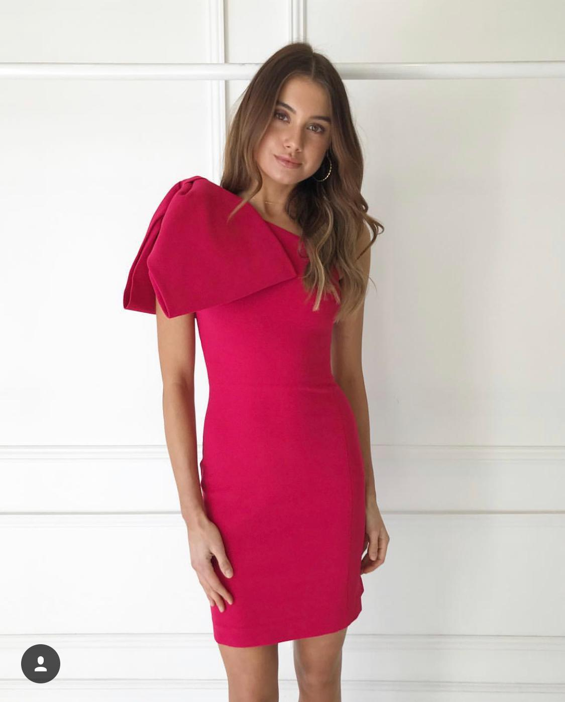 e14fc17ff587 Rebecca Vallance Hamptons Bow dress pink 10 | The Volte