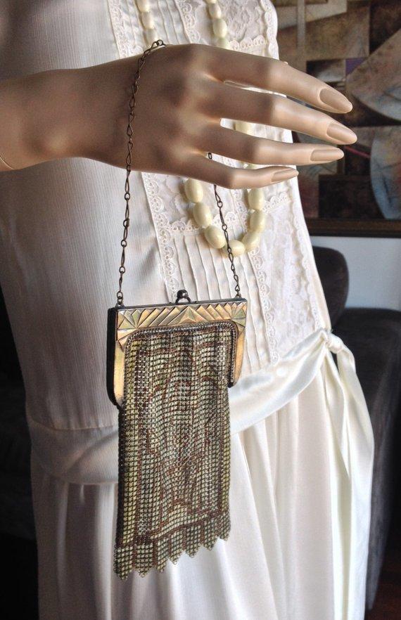 1920 mesh whiting davis bag Whiting and