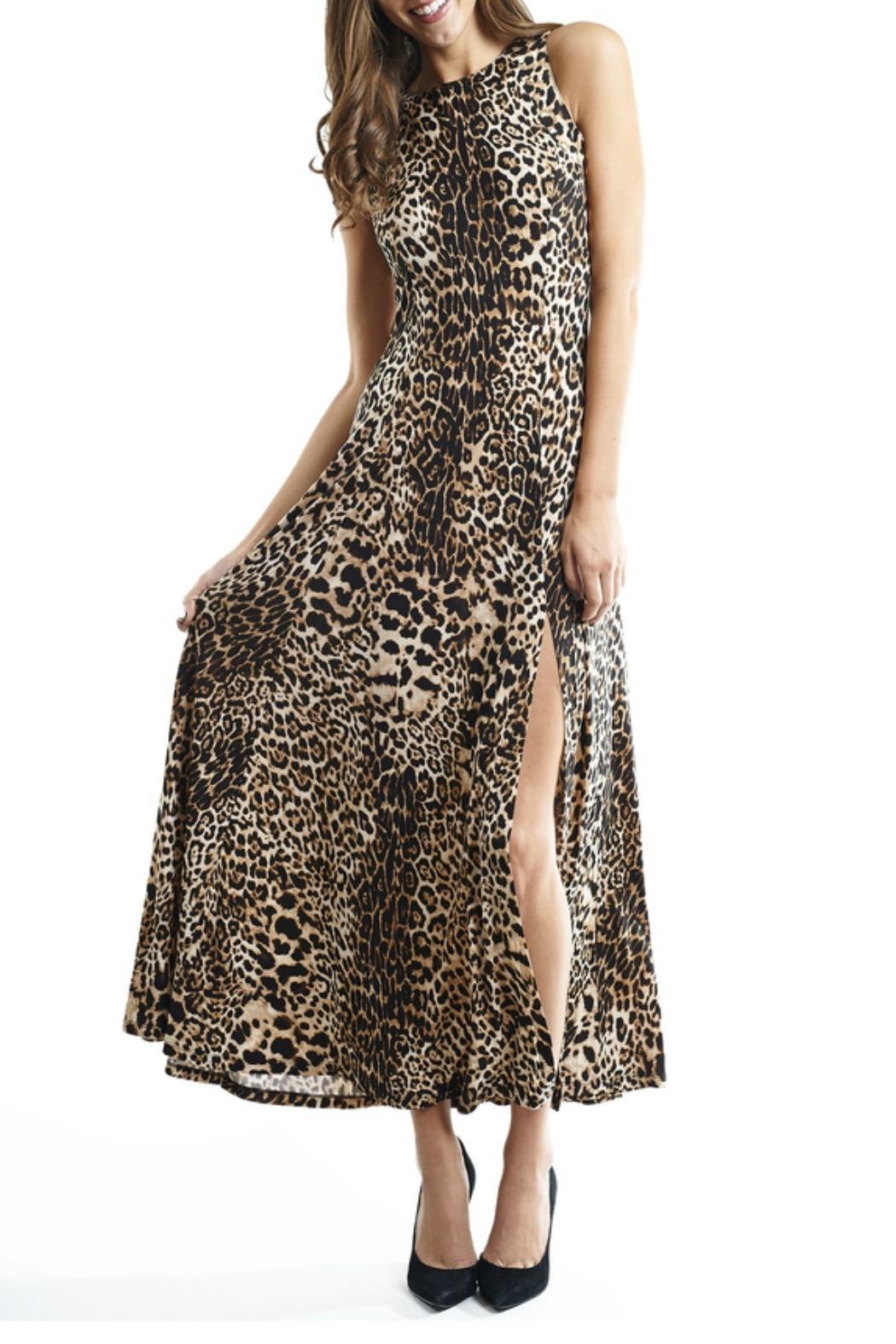 JOSEPH RIBKOFF Leopard print maxi dress | The Volte