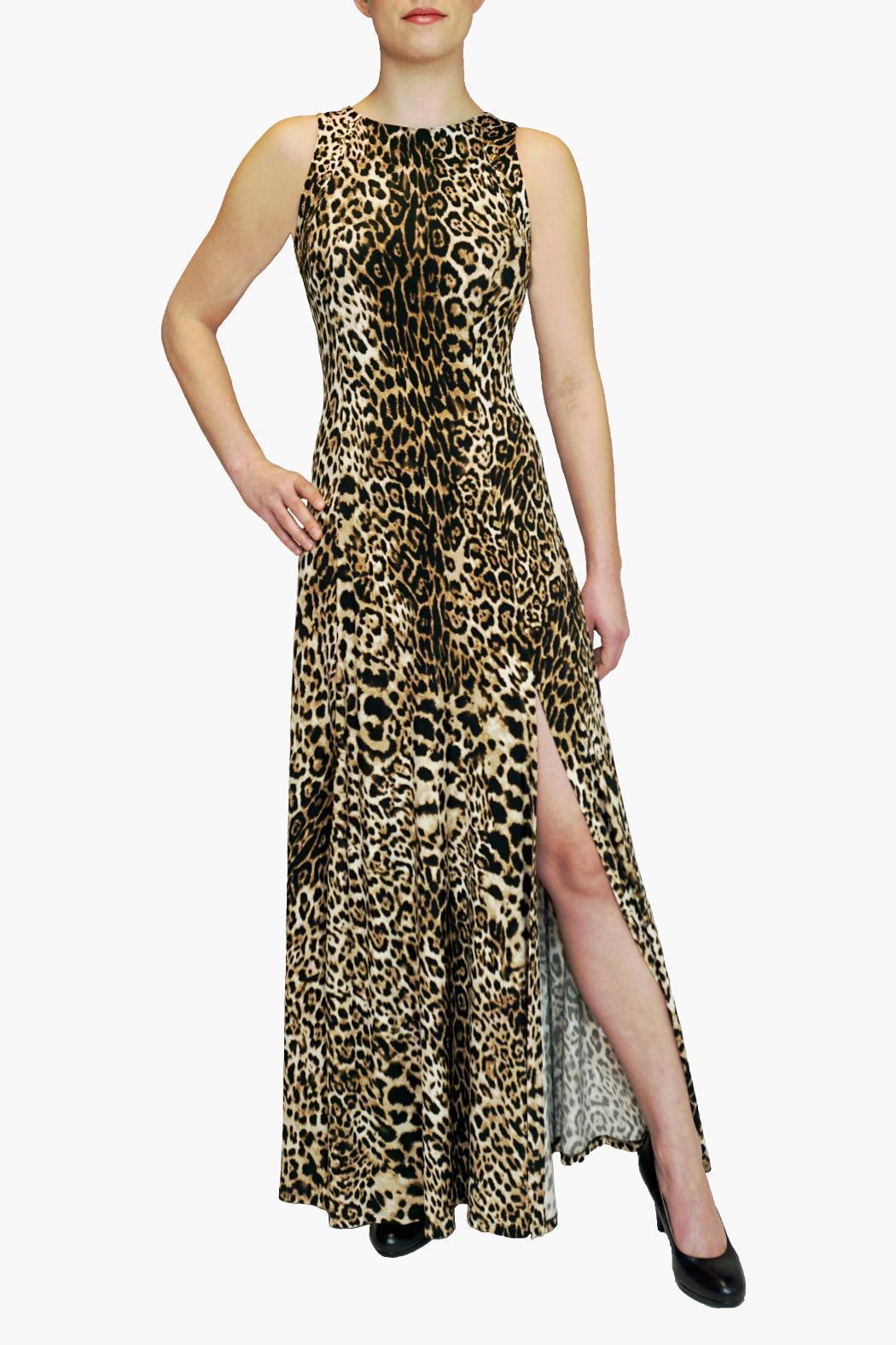 c9781a896eb0 JOSEPH RIBKOFF Leopard print maxi dress   The Volte
