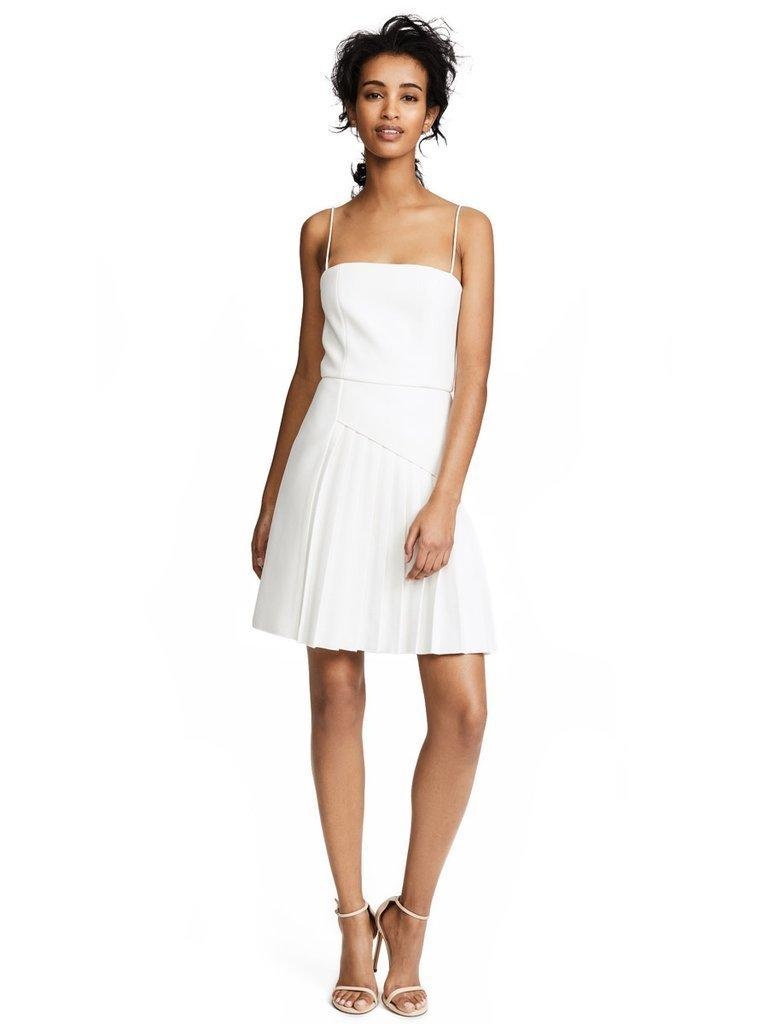 8761e549ffb Dion Lee Coil Pleat Mini Dress Ivory White Size 6