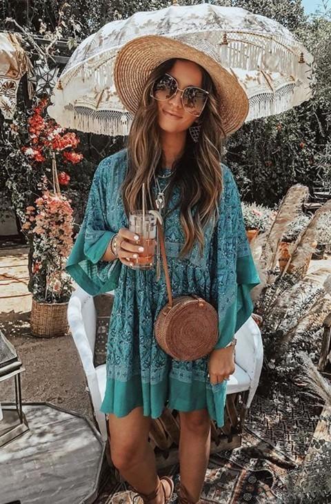 Spell Designs Jewel Tunic Dress Emerald The Volte