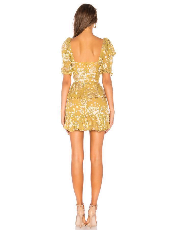11f00bd3c396 For Love   Lemons Cosmo Mini Dress Yellow Mustard Size 8