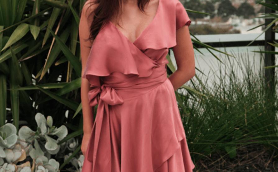 d49f3f2024b8 Zimmermann Sueded Asymmetric Wrap Mini Dress Rose Pink SIze 8 | The ...