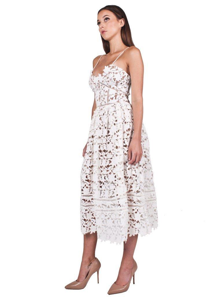 ade6acd3694a61 Self-Portrait Azaelea Dress White Size 4 | The Volte