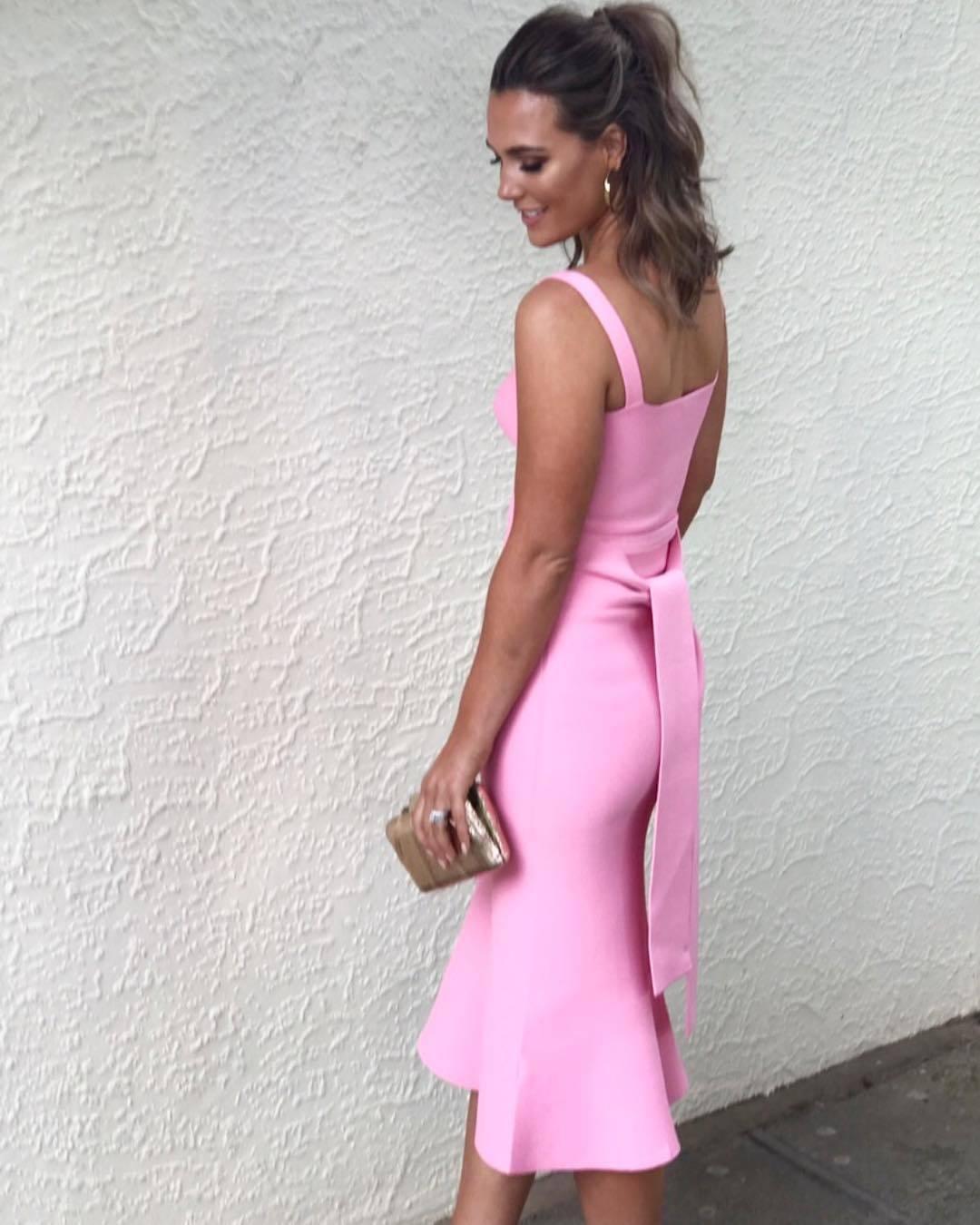 ba23cd9b6b1ff ... Crepe Knit Bralette Dress (Pink)