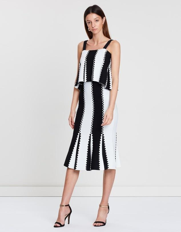 Sass And Bide Letter From Paris Dress Black White Stripe Size 8 The Volte