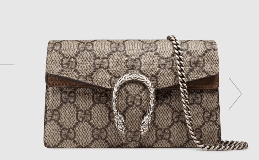 337646b201f63e Gucci Dionysus GG Supreme Super Mini Bag | The Volte
