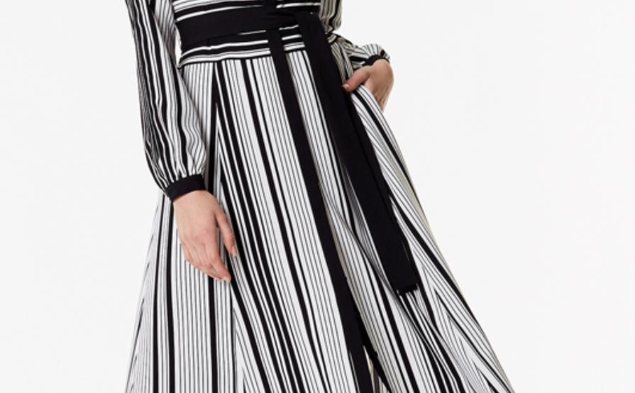 f921af7861e Karen Millen Graphic Stripe Midi Dress size 10 ...
