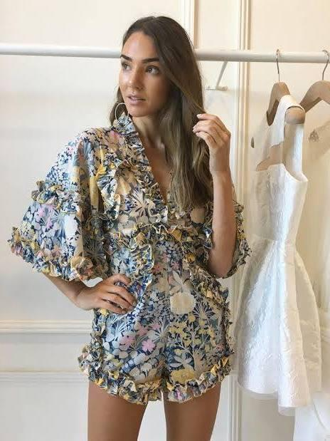 6d66cbba8429 Alice McCall Choose Me Romper Blue Floral Size 8 ...