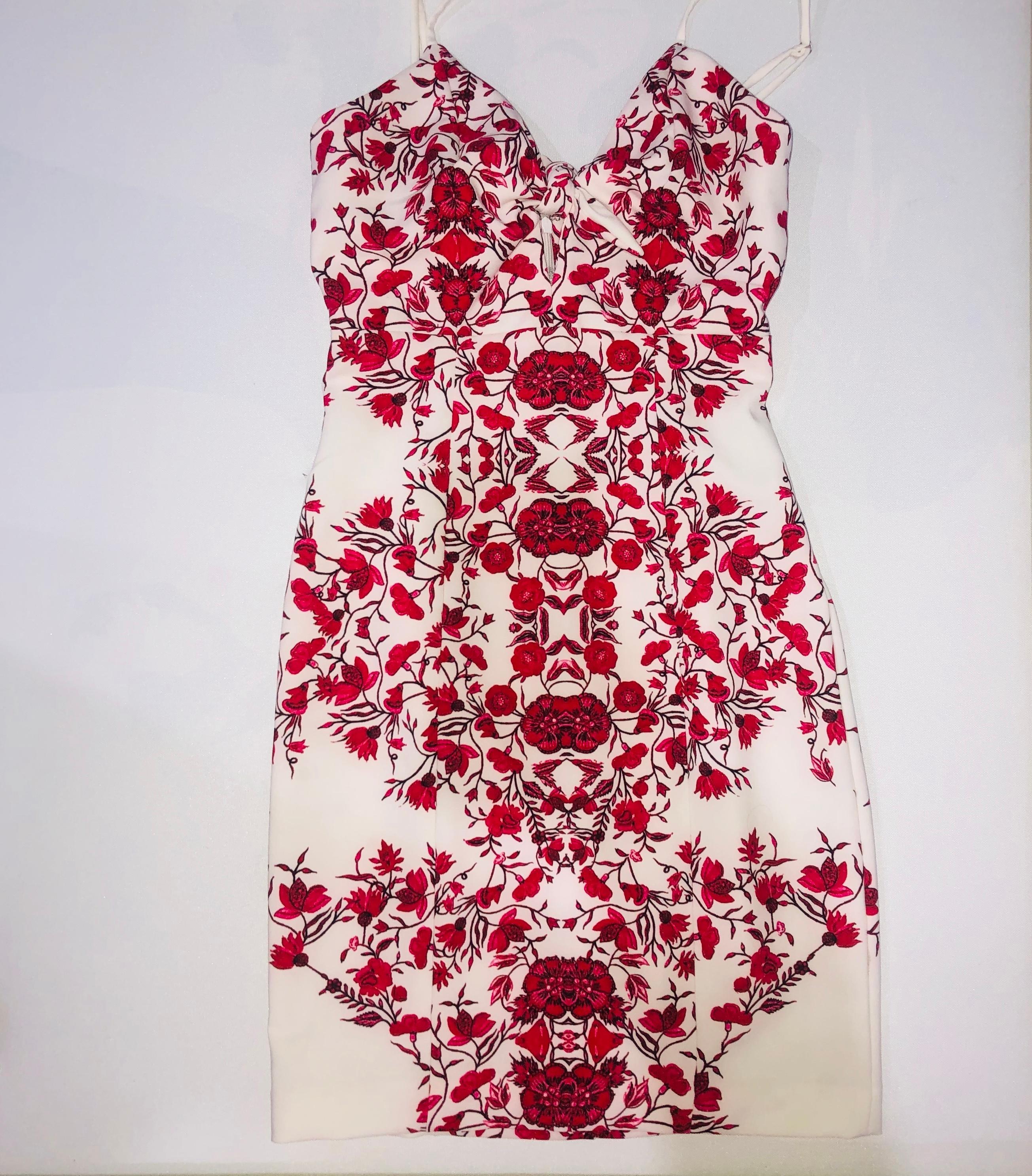 Kookai Wildflower Dress Red Floral Size 8  d1cf19973
