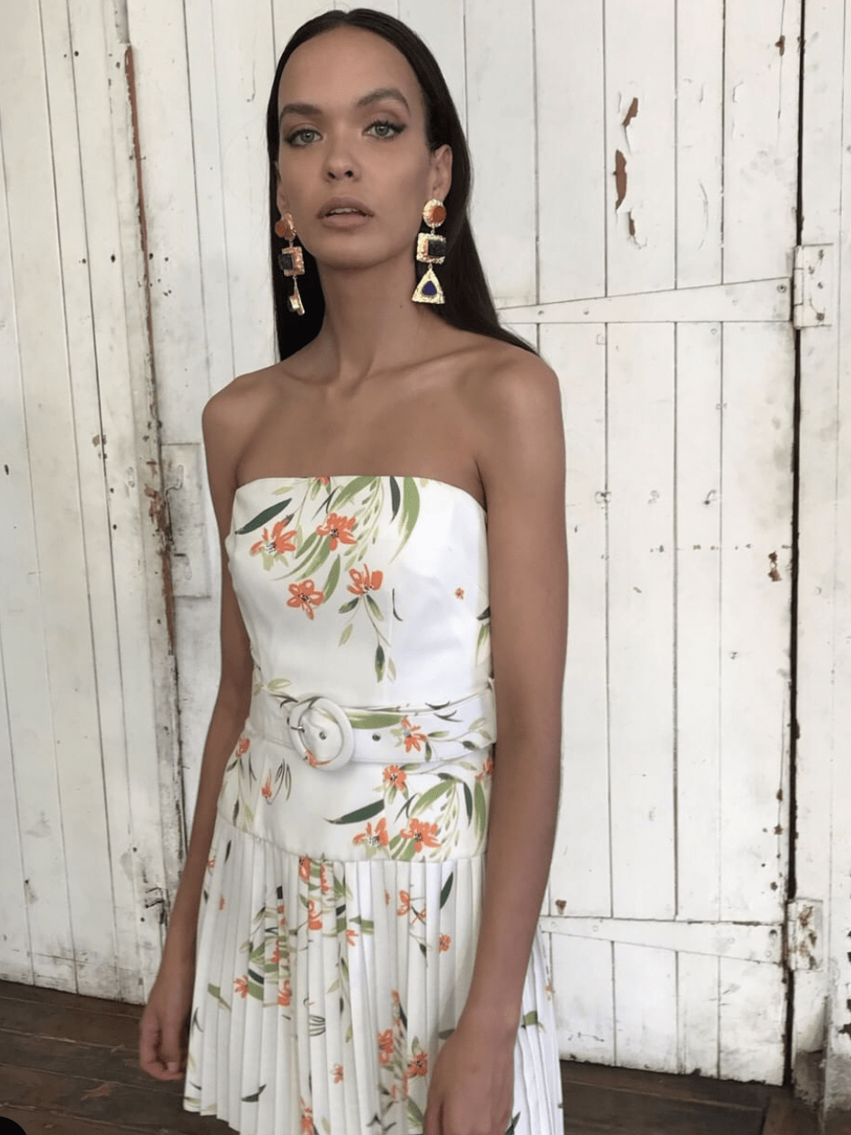 By Johnny White Jungle Tennis Dress 6 | The Volte