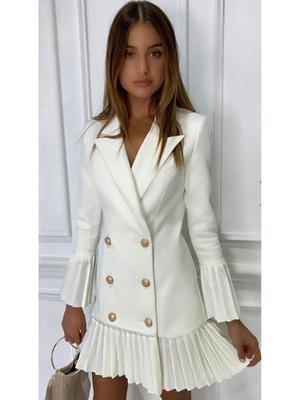 Misha Collection Jordie Blazer Dress White Sz 10   The Volte