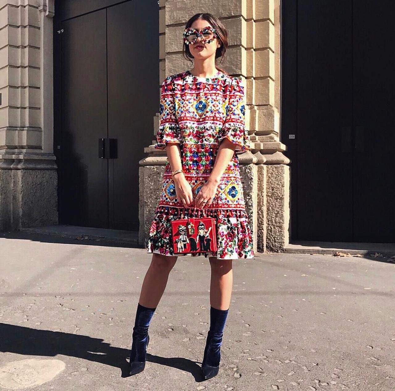 ad288e6abfb Dolce   Gabbana Bell Sleeve Mambo Midi Dress