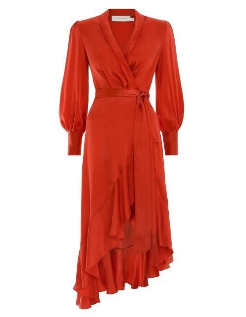 Zimmermann Terracotta Wrap Dress Size 3 The Volte