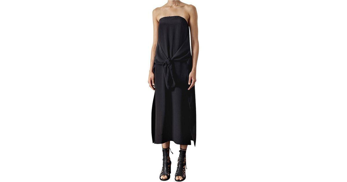Kitx Strapless Split Front Dress Black