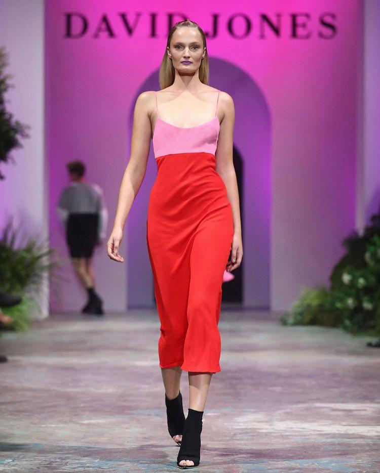 By Johnny zinnia slip midi dress Red Size 12 | The Volte