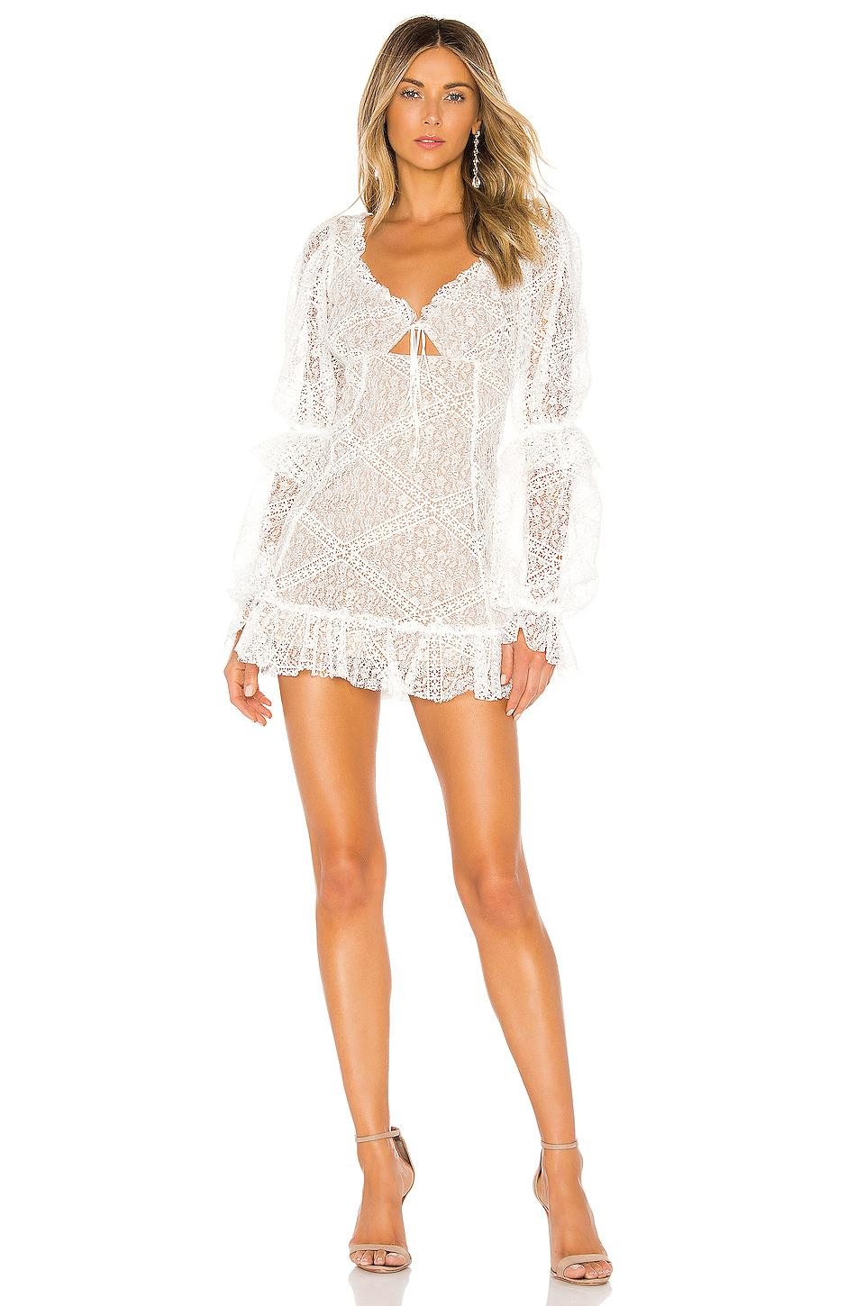 e112af84d1c For Love and Lemons Sequoia Lace Mini Dress White Size 6 | The Volte