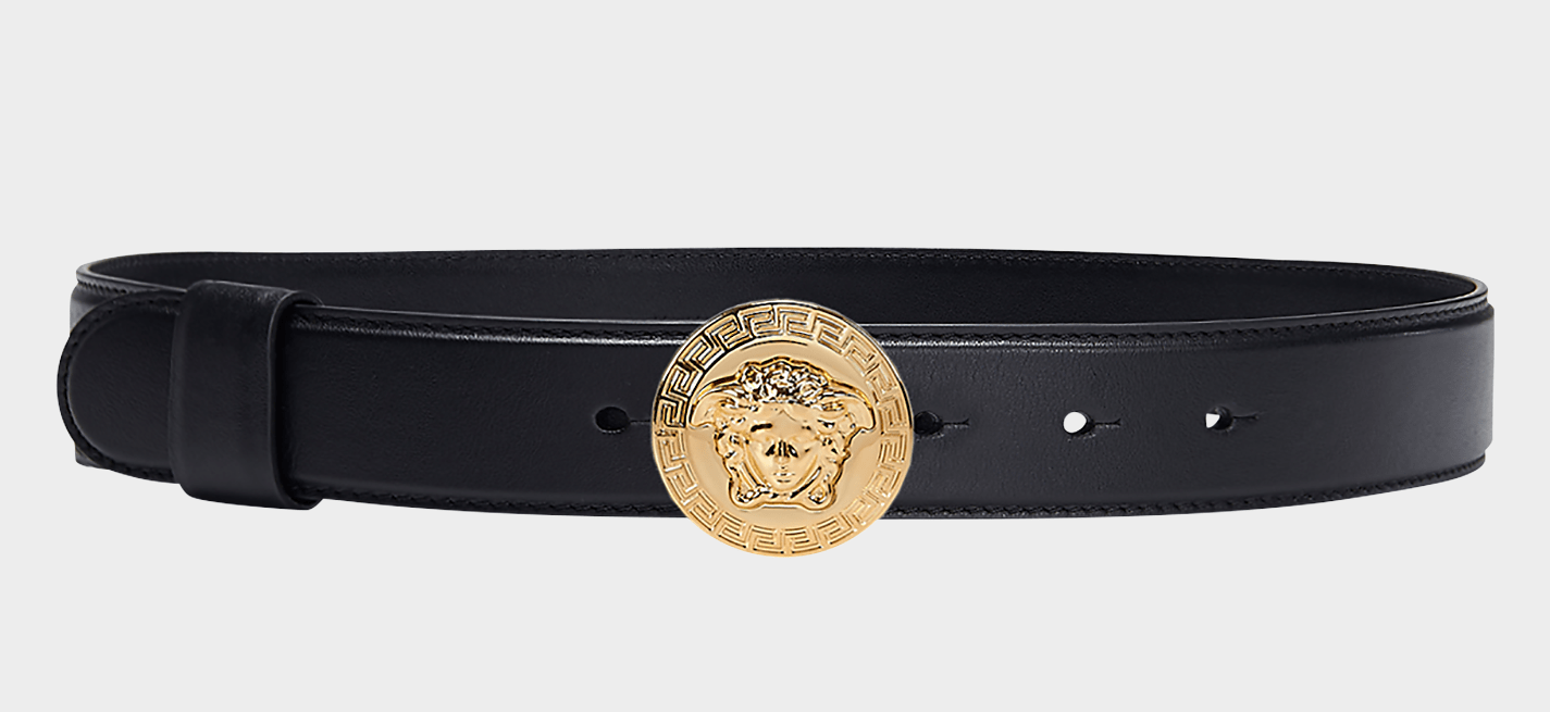 Versace Gold Medusa Leather Belt The Volte
