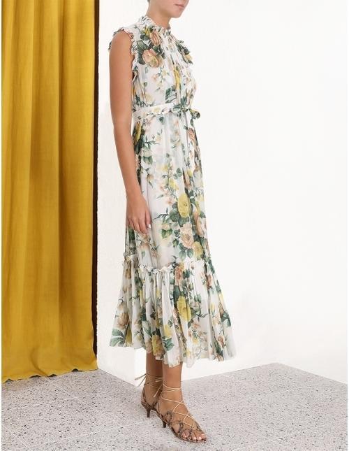 Zimmermann Zippy Frill Dress Print Size 8 The Volte
