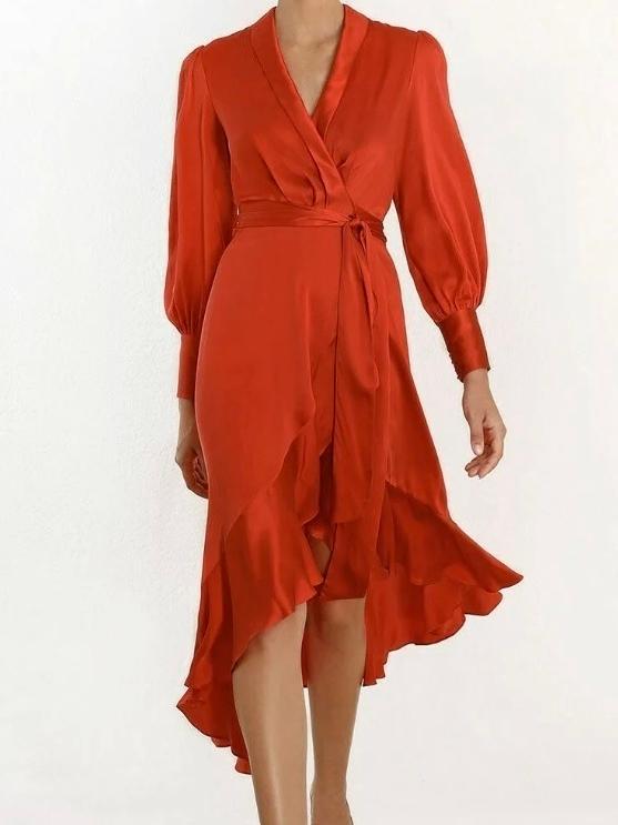 Zimmermann Silk Midi Wrap Dress Size 10 | The Volte