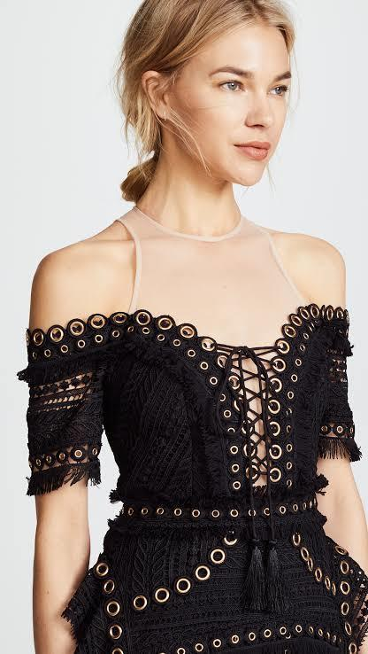 Thurley Black Magic Grommet Dress Size 6 The Volte