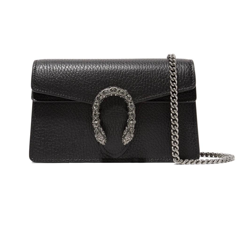 Gucci Dionysus Super Mini Textured Leather Shoulder Bag