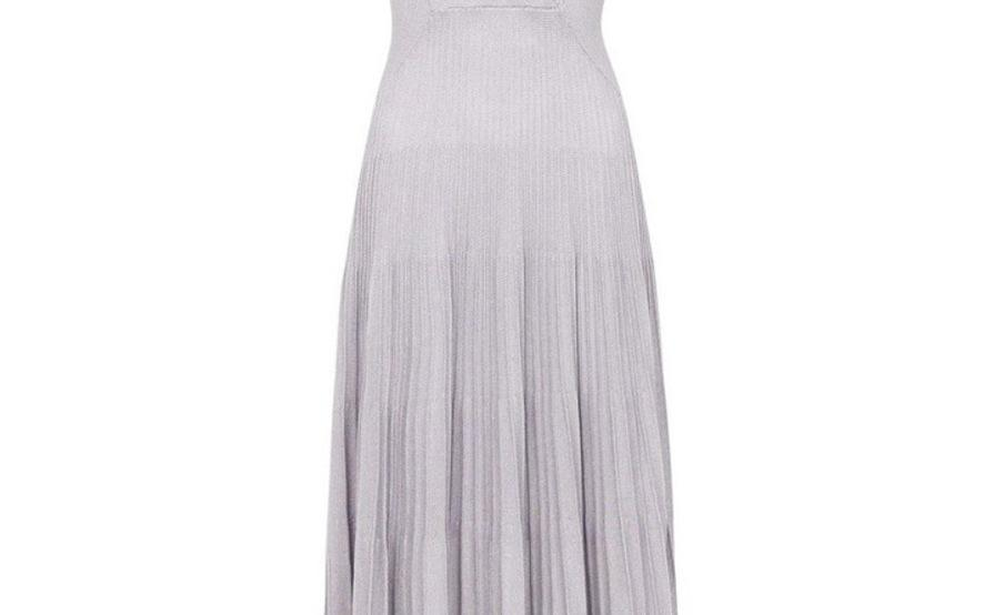 Sass Bide Almost Famous Knit Dress Metallic Blue Silver Size 8 The Volte