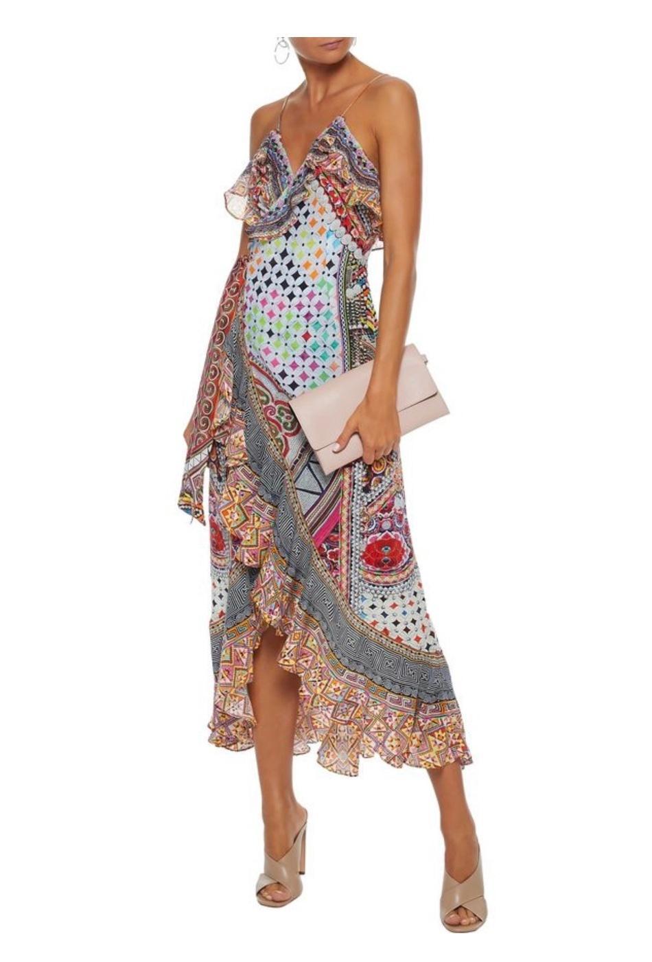 Camilla Girls Club Wrap Dress Size 12 The Volte