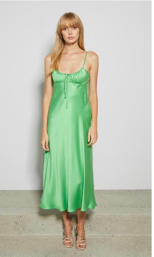 Margareta Midi Dress Green size 10 | The Volte