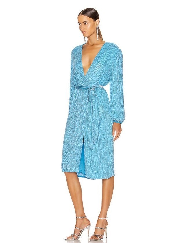 Retrofete Robe Audrey Rainbow Blue Size 8 Or 10 Or 12