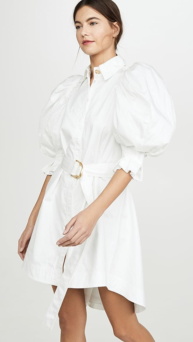 Aje - Eucalypt Puff Sleeve Shirt Dress | All The Dresses