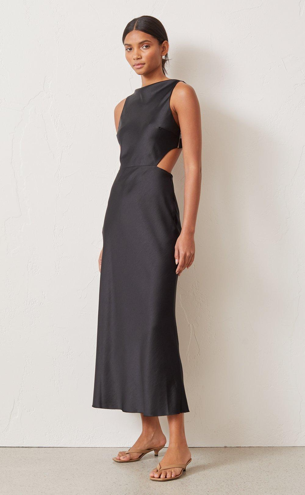 Bec & Bridge Seraphine Cut Out Midi Dress black size 6