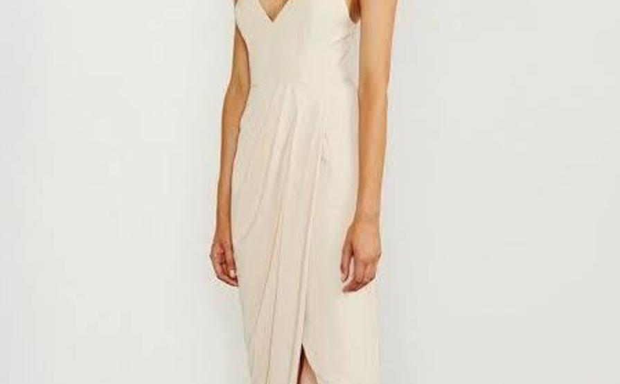 Samantha Core Cocktail Dress by Shona Joy - Nude