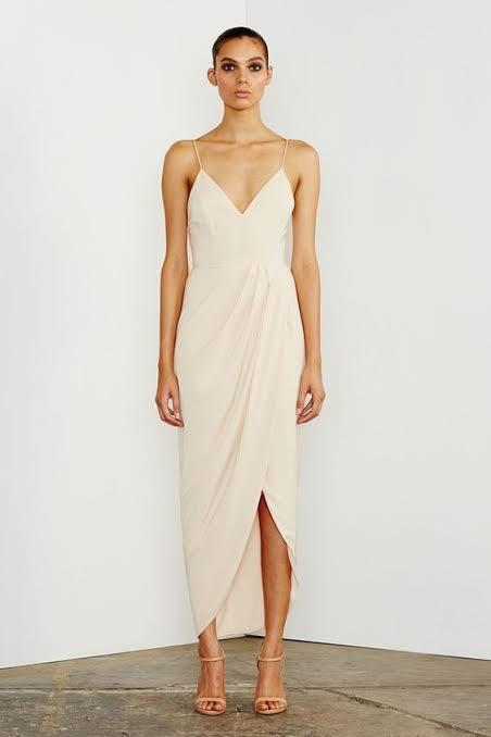 Shona Joy core cocktail dress in Nude size 10 *return