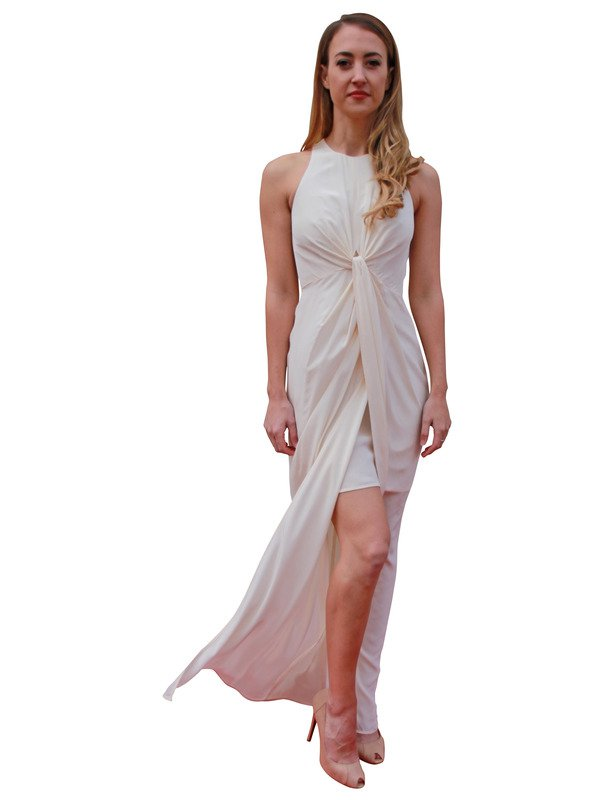 213 - Zimmerman White Twist Gown