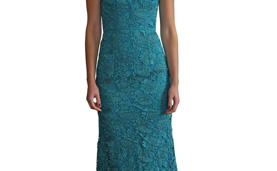Bariano Peacock Green Dixie Lace Dress Size 6